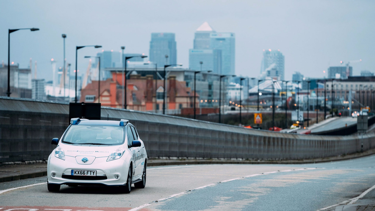 Nissan Leaf autonomous testing in London