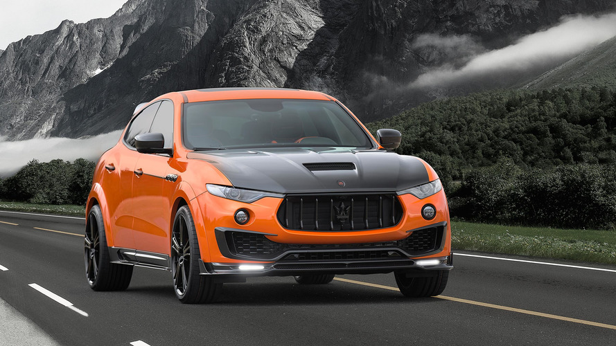 Mansory tuned a Maserati Levante and the result is very orange