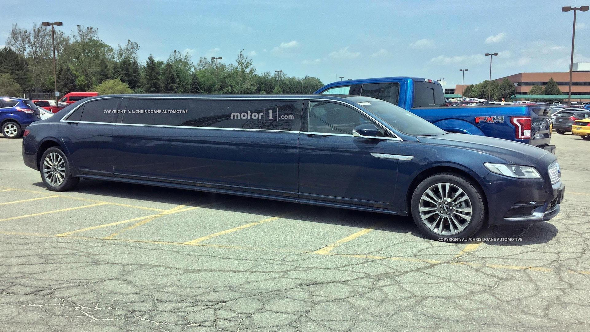 Extra Long Lincoln Continental Limo Spied