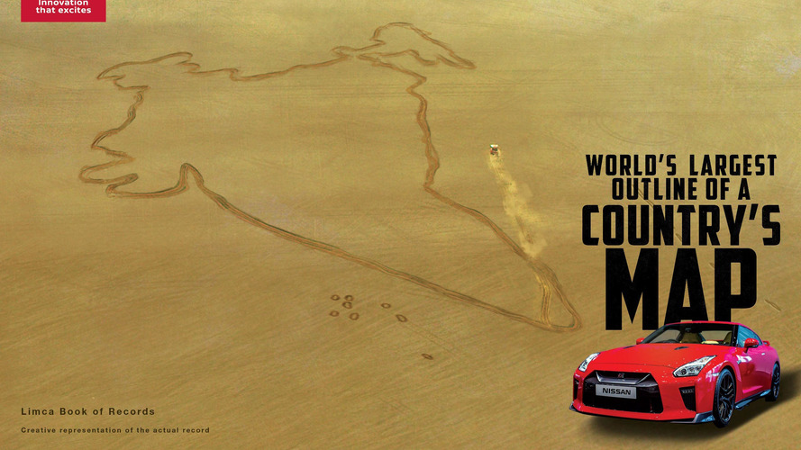 Nissan GT-R India Outline World Record