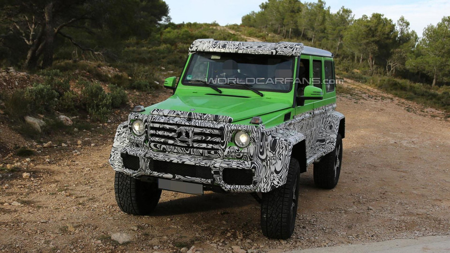 Mercedes G63 AMG Green Monster spied, is a four-wheel version of the G63 AMG 6x6