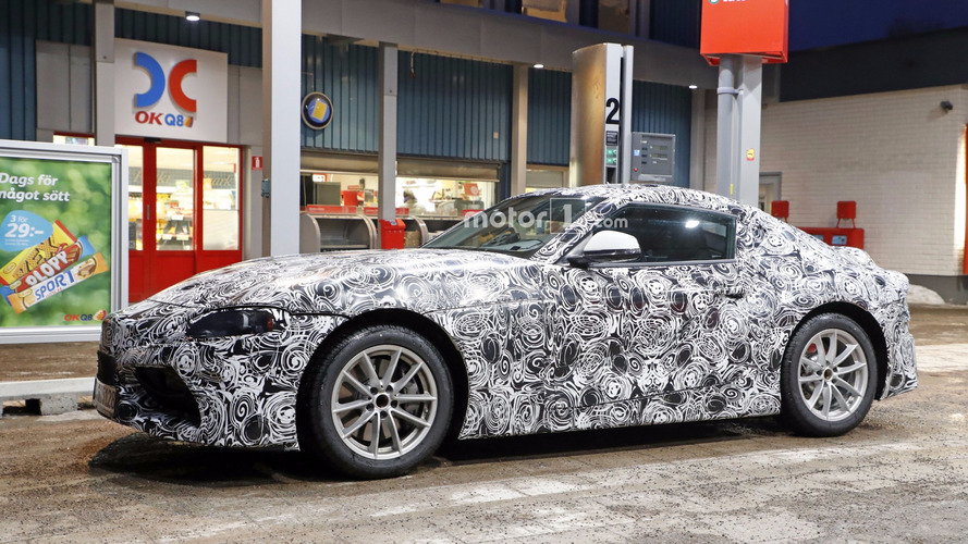 2018 Toyota Supra spied in detail at gas station