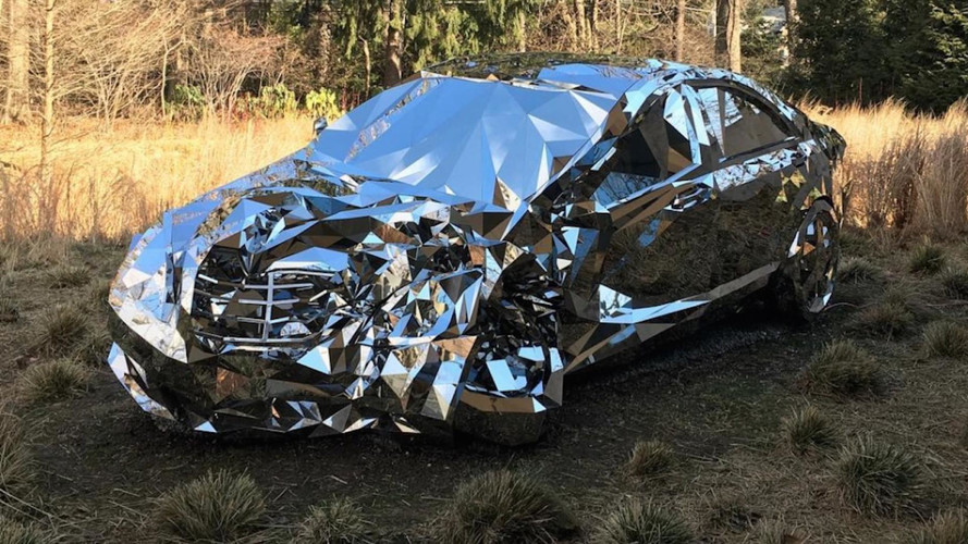 Crashed S-Class Made Of Mirrors Reflects Our Love Of Carnage