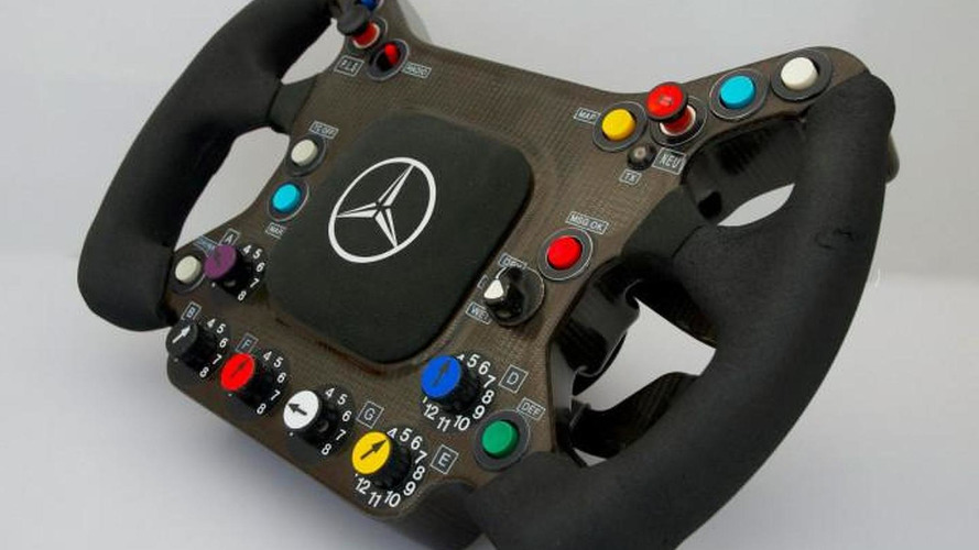 Kimi Raikkonen's original McLaren F1 steering wheel for sale