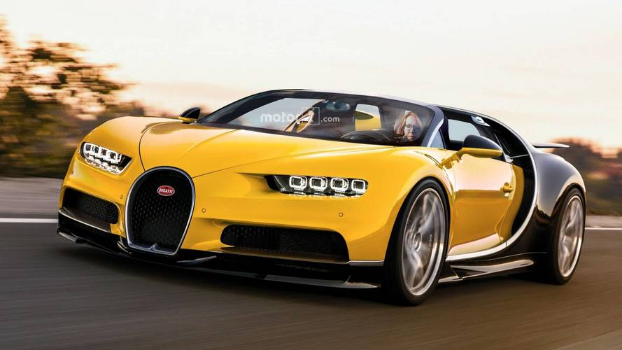 Chiron Rendered As The 1,500-HP Roadster Bugatti Won't Make
