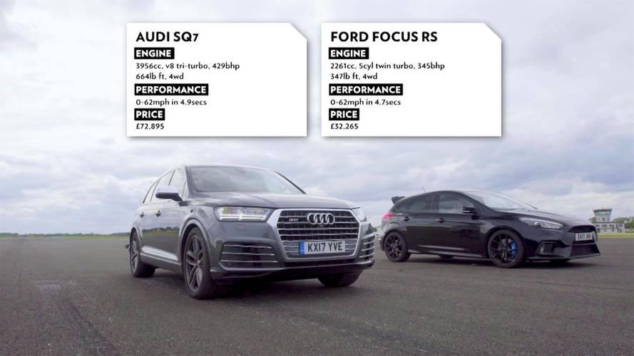 Kalkış yarışması: Audi SQ7, Ford Focus RS'e karşı