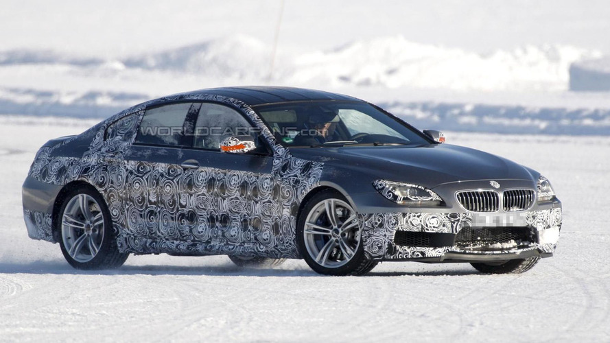2013 BMW M6 GranCoupe caught playing in snow
