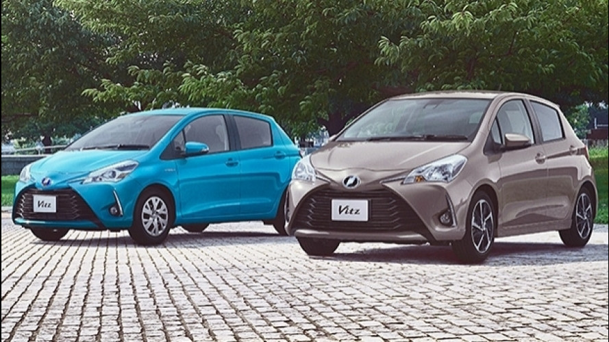 Toyota Yaris restyling, prime foto dal Giappone