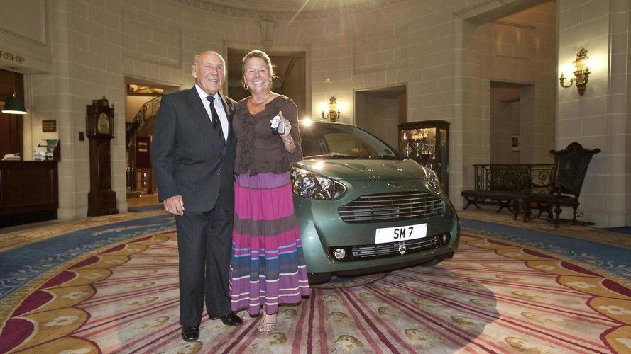 Sir Stirling Moss buys an Aston Martin Cygnet