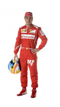 Fernando Alonso Ferrari 2014 race suit