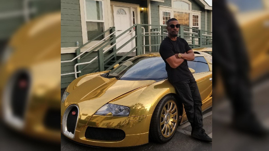 Actor Jamie Foxx Turns His Bugatti Veyron Into A Golden Egg
