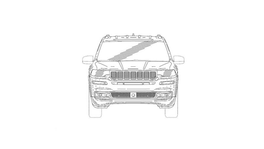 Jeep 7 koltuklu patent çizimi