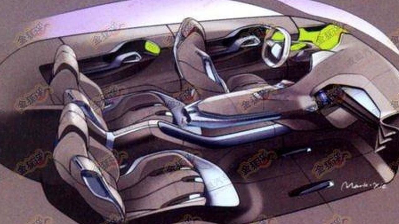 Peugeot Crossover Shanghai Concept leaked design sketches, 500, 05.04.2011