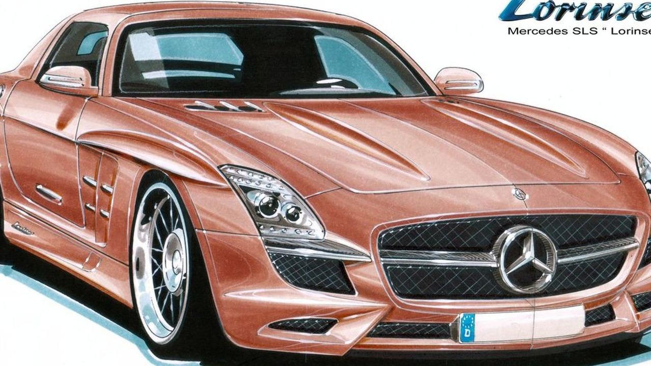 Lorinser Mercedes SLS AMG Gullwing design sketch