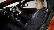 Ron Dennis, McLaren Automotive Chairman with McLaren MP4-12C