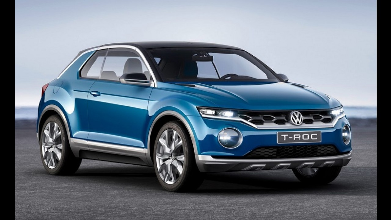 vw t roc concept antecipa suv derivado do polo para brigar com juke. Black Bedroom Furniture Sets. Home Design Ideas