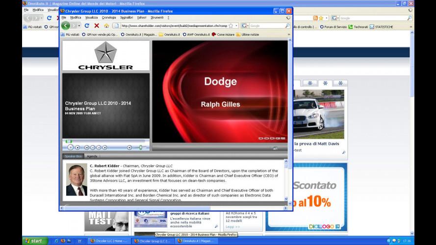 La Chrysler di Sergio Marchionne: la conferenza in diretta web