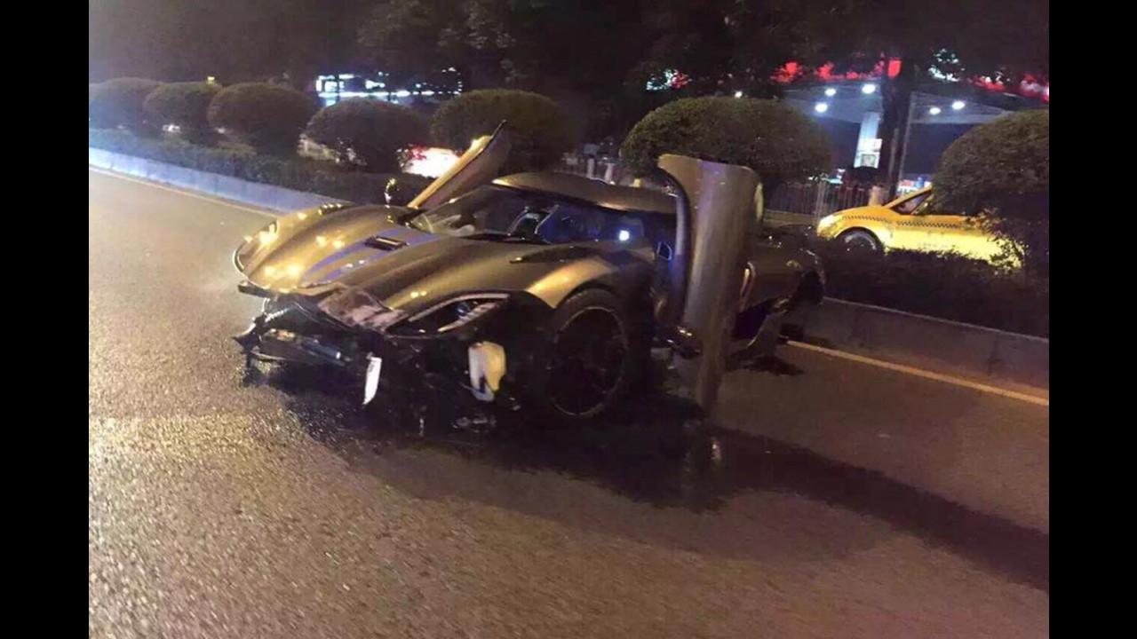 Koenigsegg Agera R, incidente in Cina