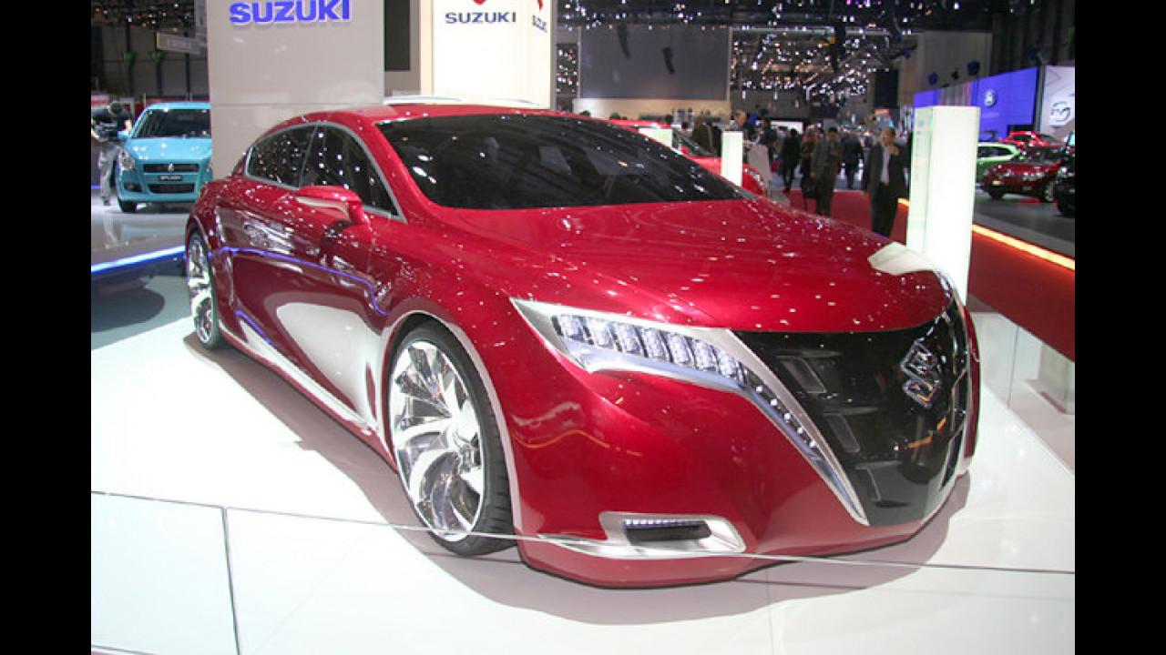 Suzuki Kizashi: Die erste Version der Suzuki-Studie war bereits auf der IAA 2007 zu sehen …
