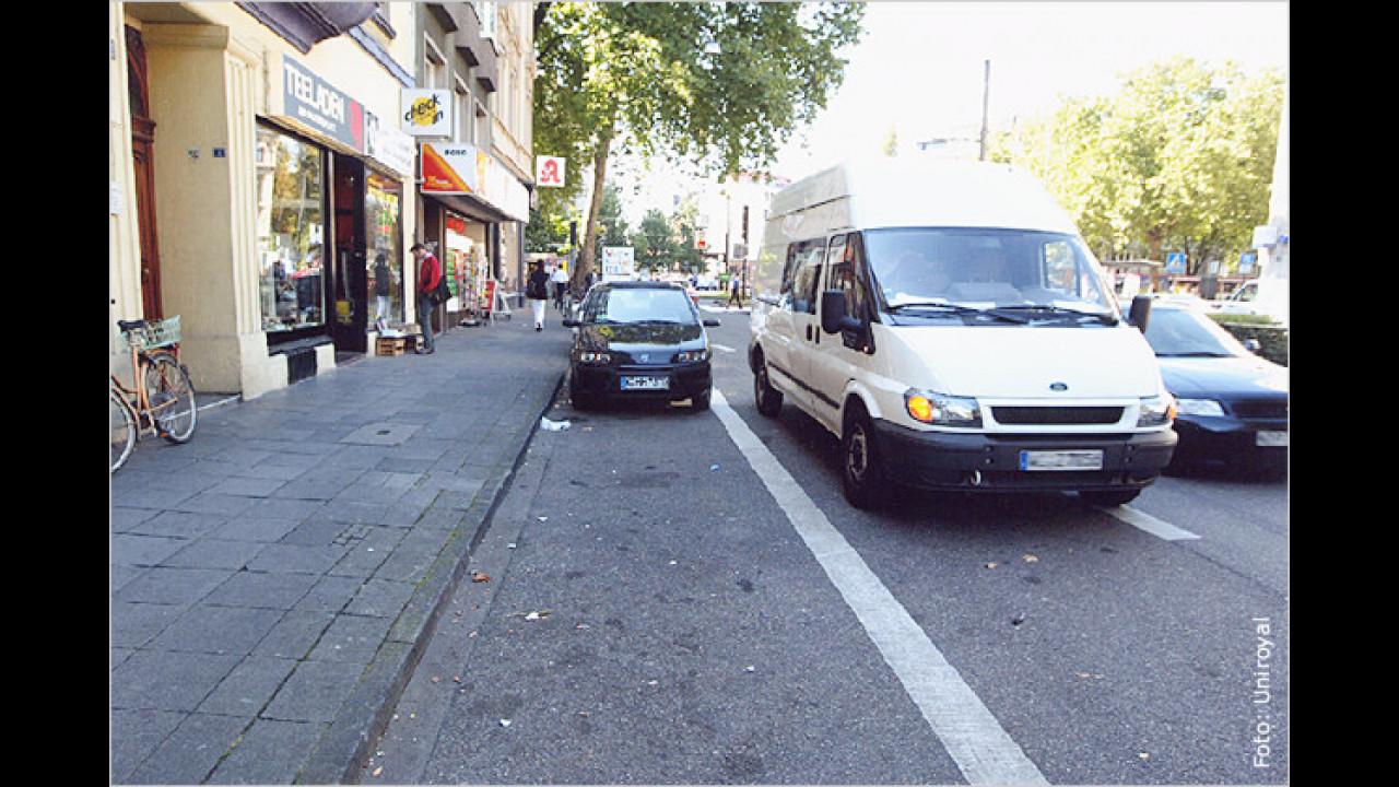 Parken in zweiter Reihe