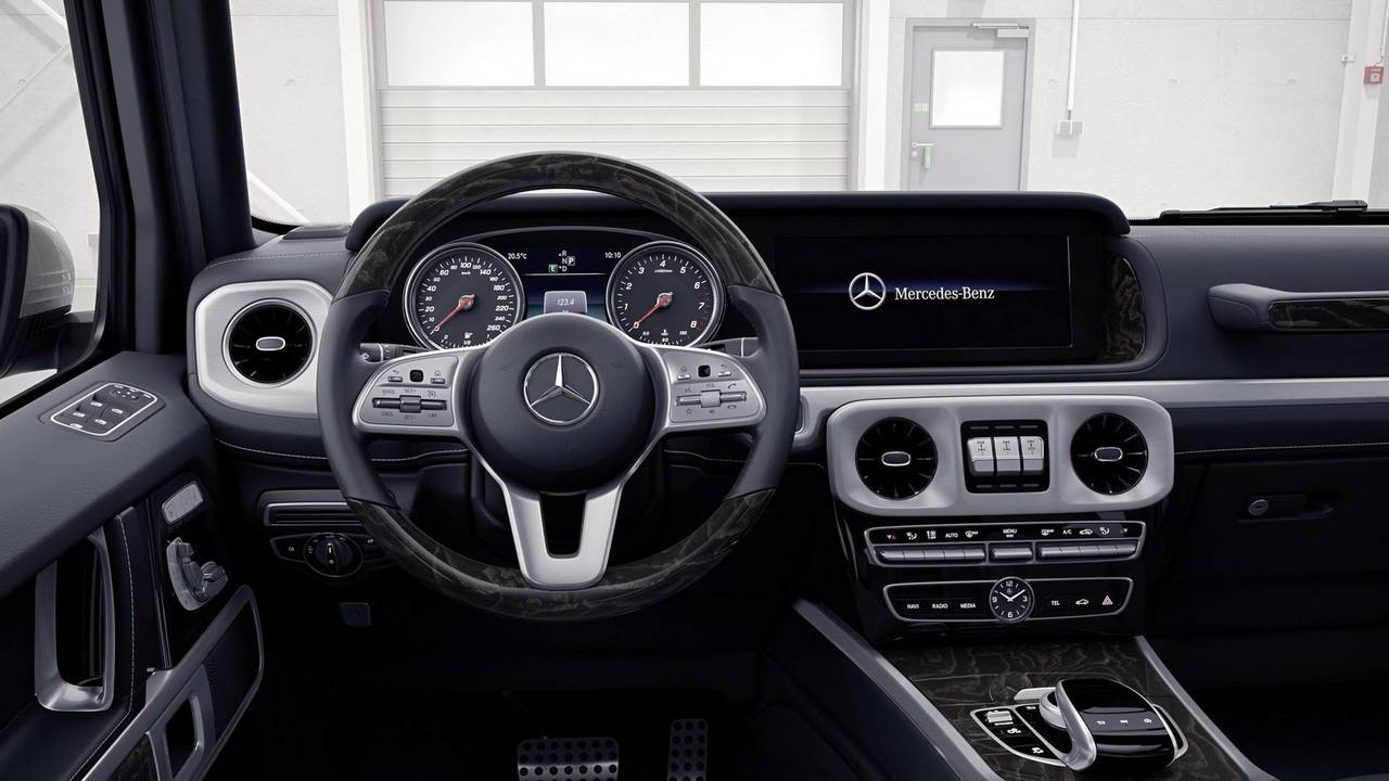 New mercedes g class teased on video for 2017 mercedes benz g550 interior