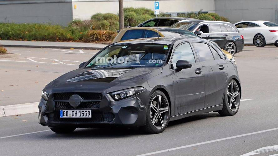 2018 mercedes a class spied testing with volkswagen golf. Black Bedroom Furniture Sets. Home Design Ideas
