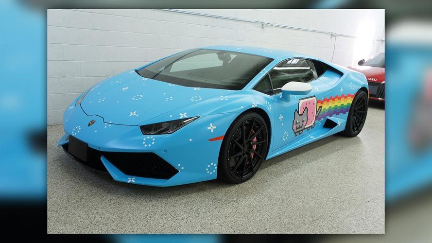 Eladó Deadmau5 Nyan Cat-mintásra fóliázott Lamborghinije