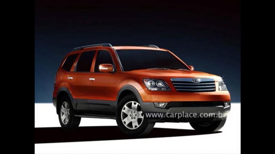 Novo SUV Kia Borrego será apresentado no Salão de Detroit