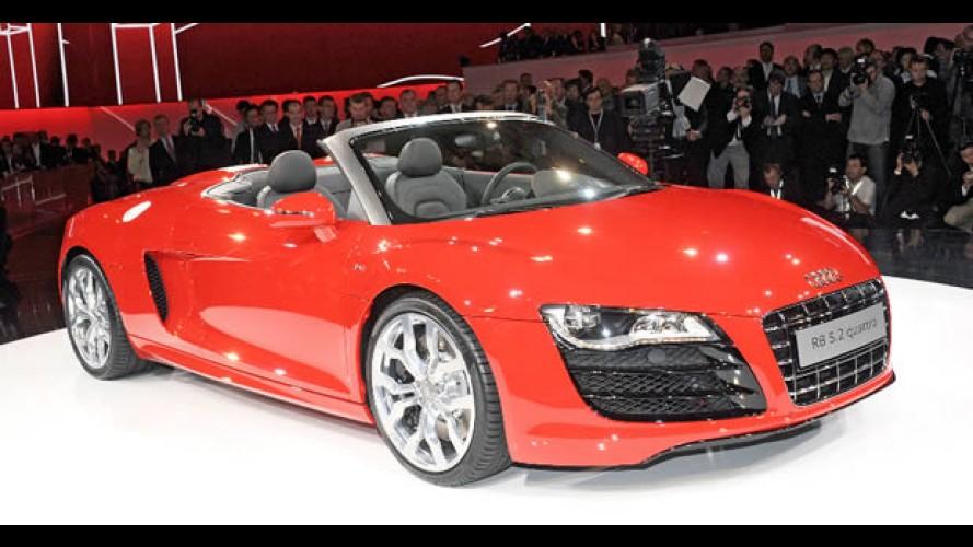 Salão de Frankfurt: Fotos do novo Audi R8 Spyder 5.2 Quattro ao vivo