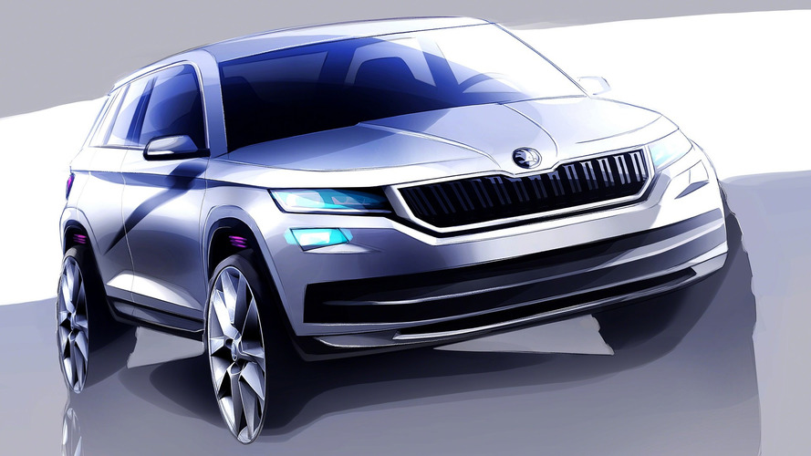 Skoda Kodiaq seven-seat SUV teased ahead September reveal