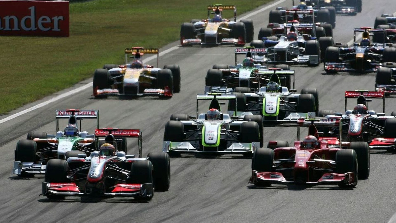 Monza, Italy, Start of the race - Formula 1 World Championship, Rd 13, Italian Grand Prix