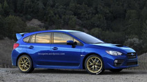 Subaru WRX hatchback render