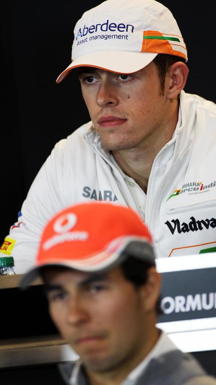 Paul di Resta and Sergio Perez 14.11.2013 United States Grand Prix
