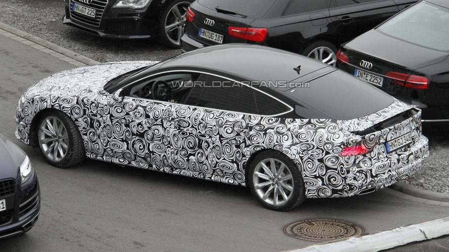 Audi A7 facelift spied for the first time