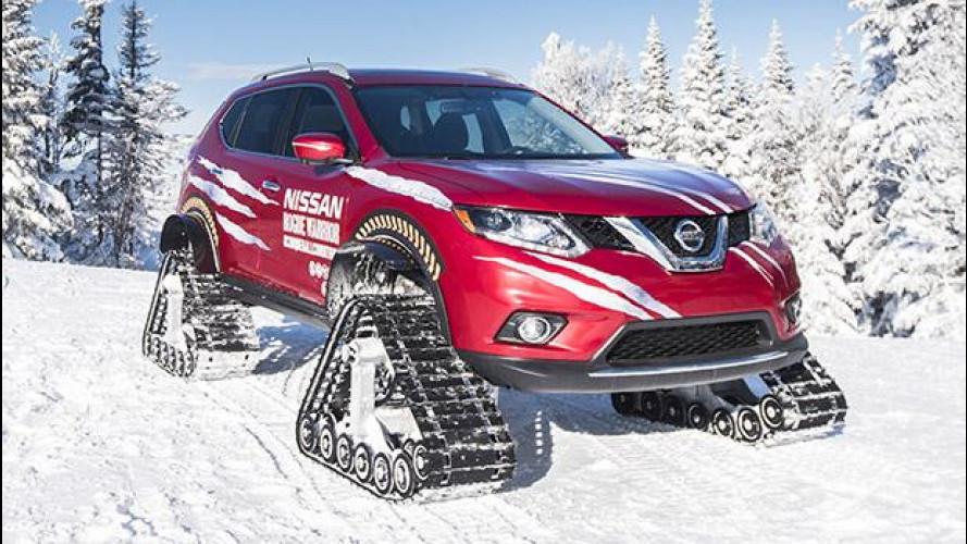 Nissan Rogue Warrior, l'X-Trail delle nevi [VIDEO]