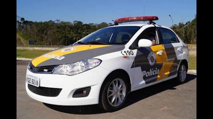 Chery Celer passa a compor a frota da Polícia Rodoviária de São Paulo