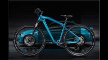 BMW-Fahrrad in M2-Blau