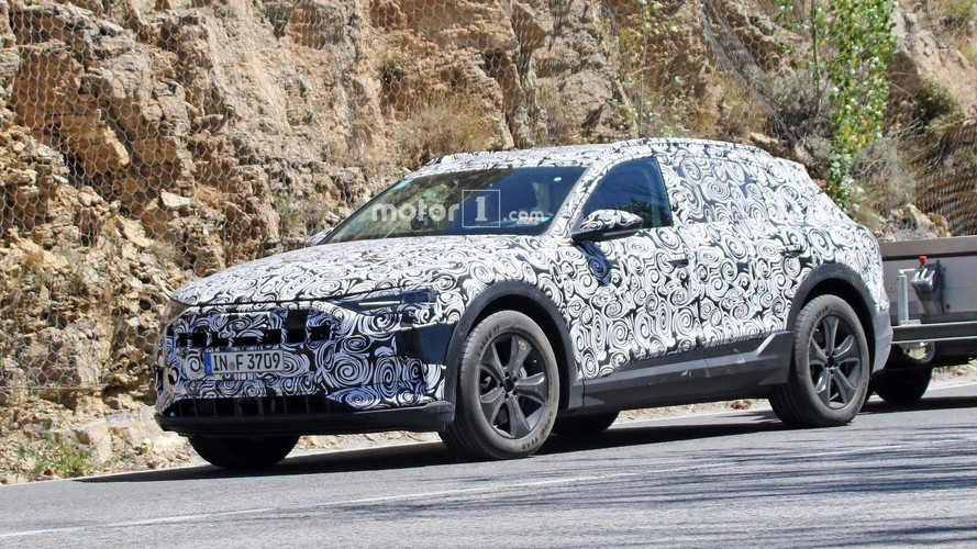 Audi E-Tron Quattro Electric SUV Spied Testing For First Time