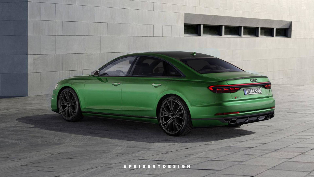 Audi Rs8 Rendering Looks Mean Is Green