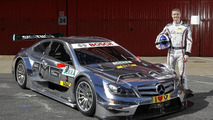 David Coulthard with 2012 DTM AMG Mercedes-Benz C-Coupe 04.03.2012