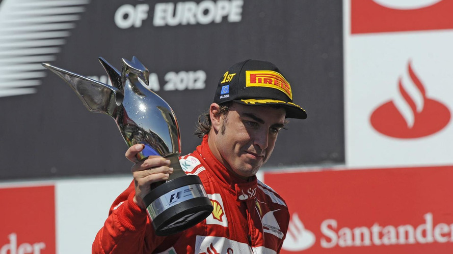 2012 European Grand Prix race results