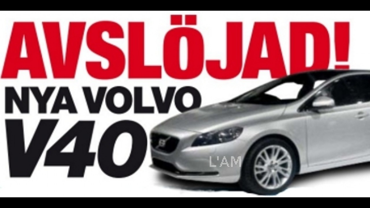 Volvo revela teaser do novo hatchback V40 - Flagras também adiantam visual do modelo