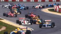 Start- Ricardo Patrese, Williams Renault, Nigel Mansell, Williams Renault, Ayrton Senna, McLaren Honda, Michael Schumacher, Benetton Ford