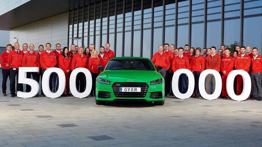 Viper Green TTS Coupe Is the 500,000th Made In Hungary Audi