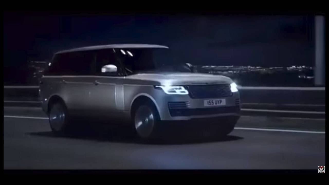 2018 Range Rover facelift screenshot from leaked promo video