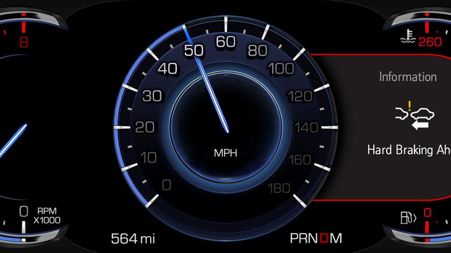 2017 Cadillac CTS V2V notifications