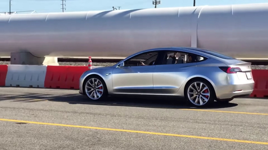 Tesla Model 3 prototype caught on video