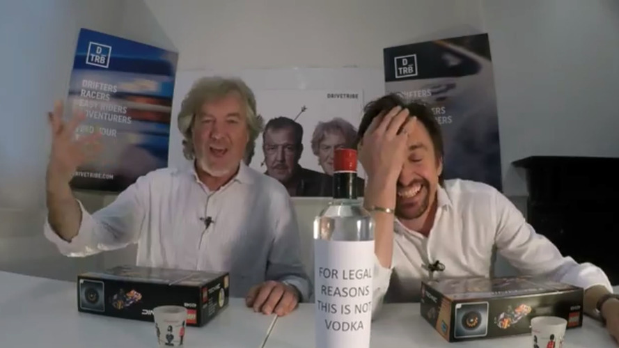 May And Hammond Build Lego While Drinking Vodka On Facebook