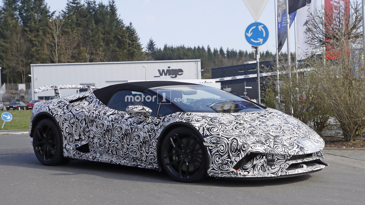 2018 lamborghini huracan performante spyder spy photo foto. Black Bedroom Furniture Sets. Home Design Ideas
