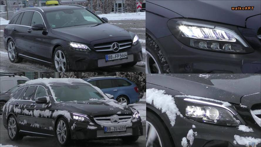 2018 Mercedes C-Serisi Wagon iki farklı ön farla görüldü